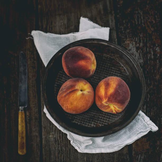 Peach Bowl stock photo