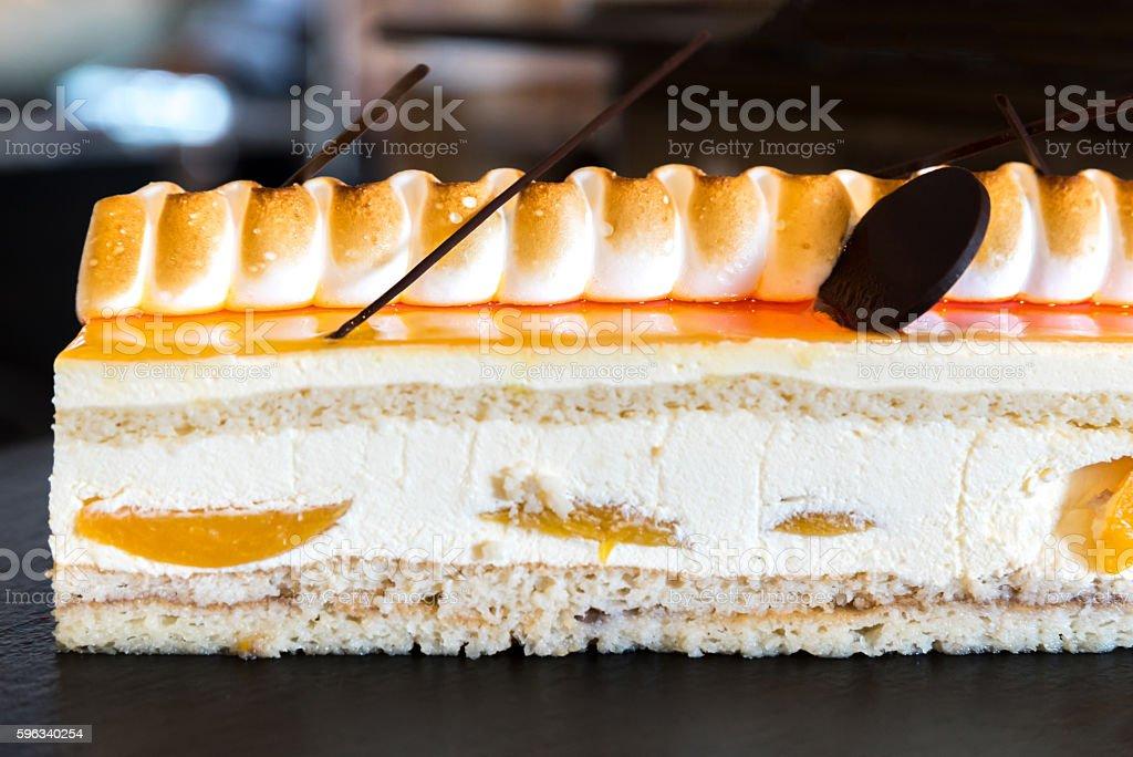 peach cake royalty-free stock photo