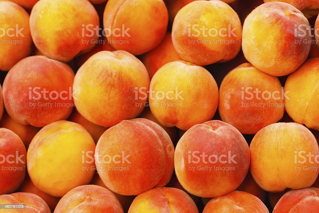Peach close up stock photo