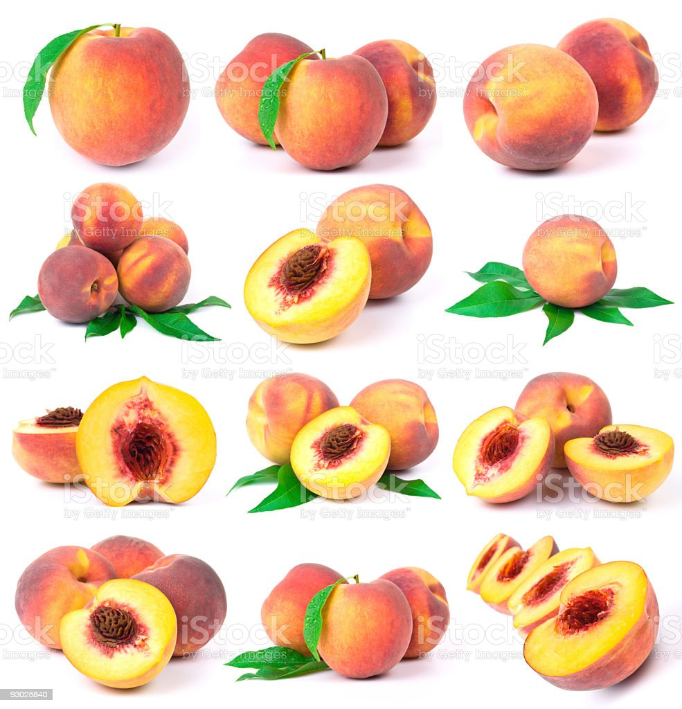 peach collection royalty-free stock photo