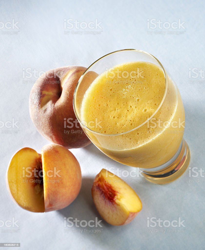 Peach Fruit Smoothie stock photo