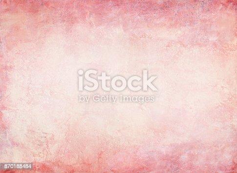 istock Peach Ghost red grunge background 870188484