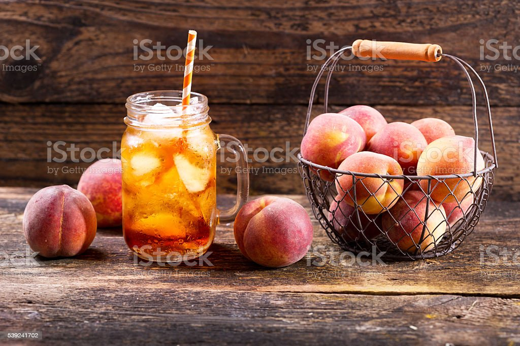 peach iced tea royalty-free stock photo