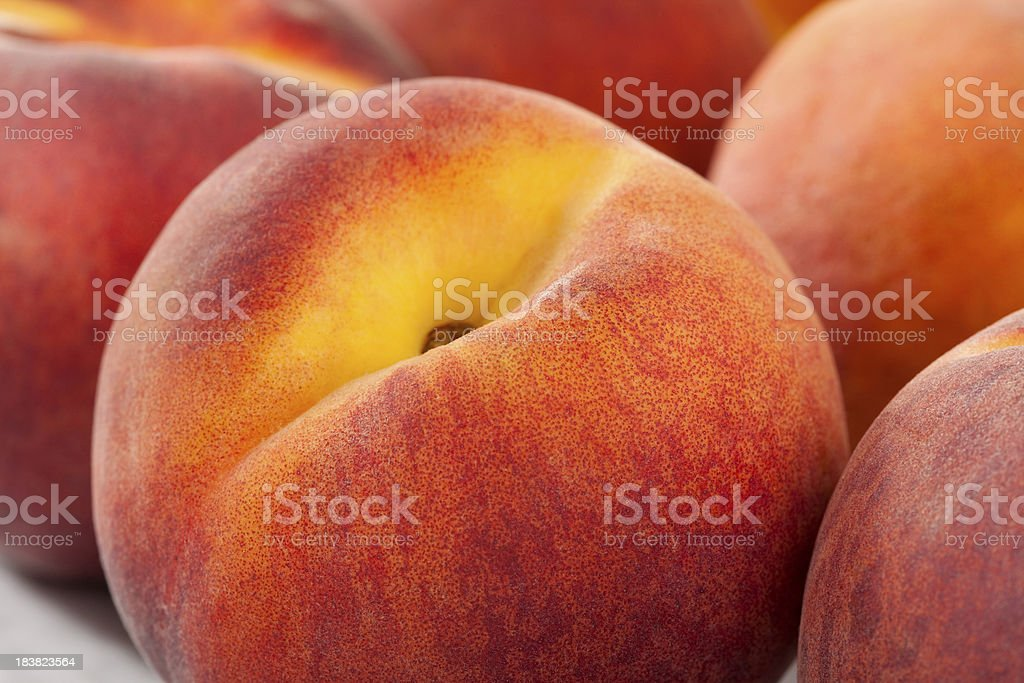 Peach macro stock photo