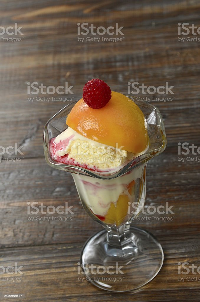 Peach Melba royalty-free stock photo