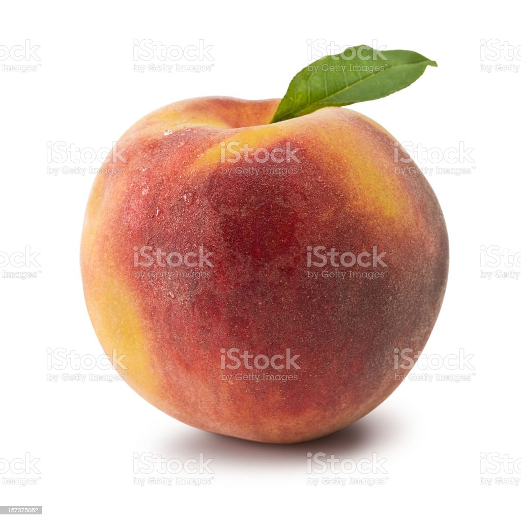 Peach (Clipping Path) royalty-free stock photo