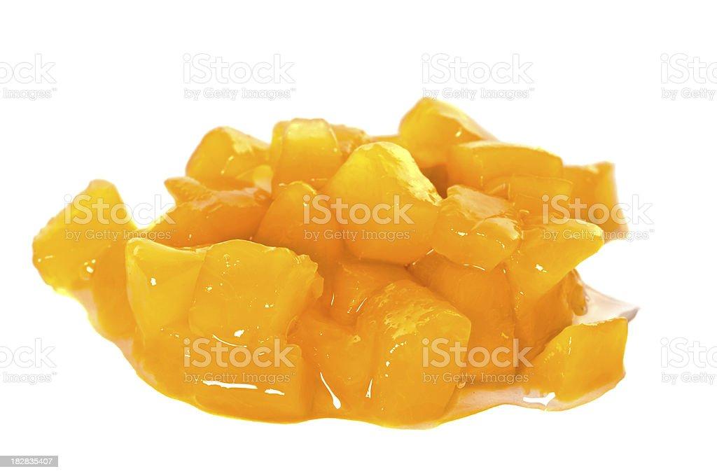 Peach Pieces stock photo
