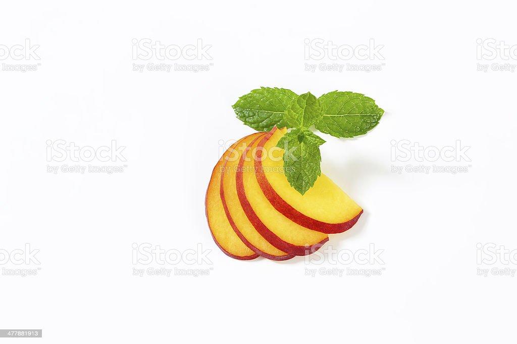 peach slices royalty-free stock photo