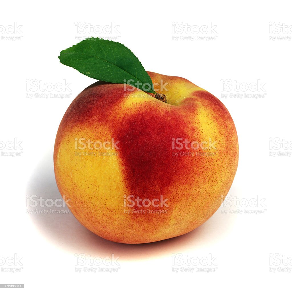 Peach solo with Leaf royalty-free stock photo