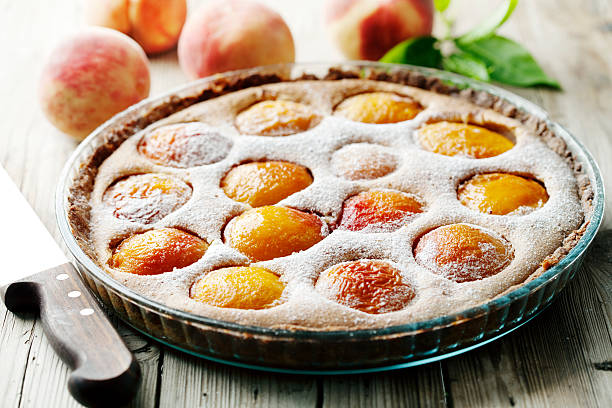 peach tart – Foto