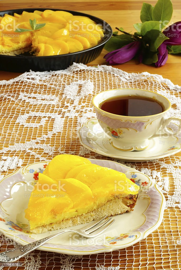 Peach tart royalty-free stock photo