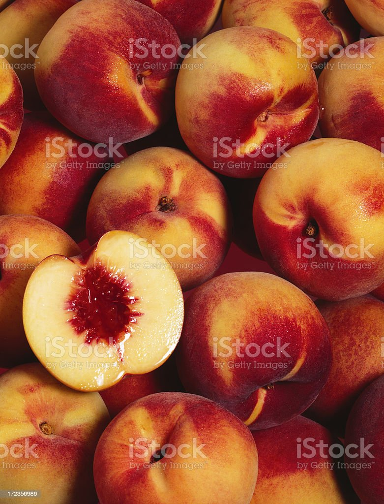 Peach wallpaper (1) stock photo