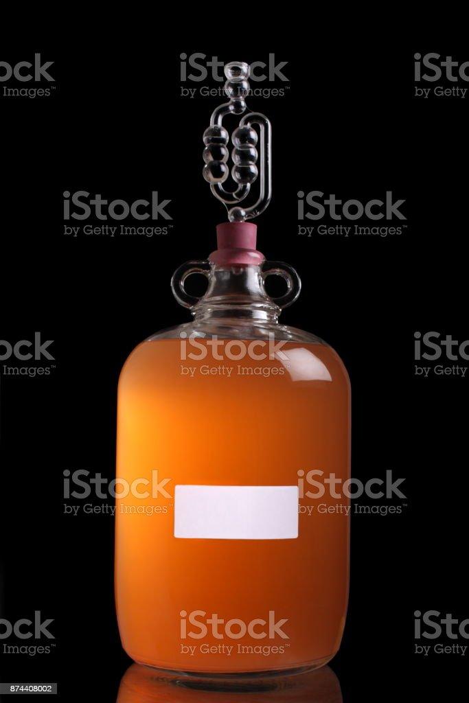 Peach wine stock photo