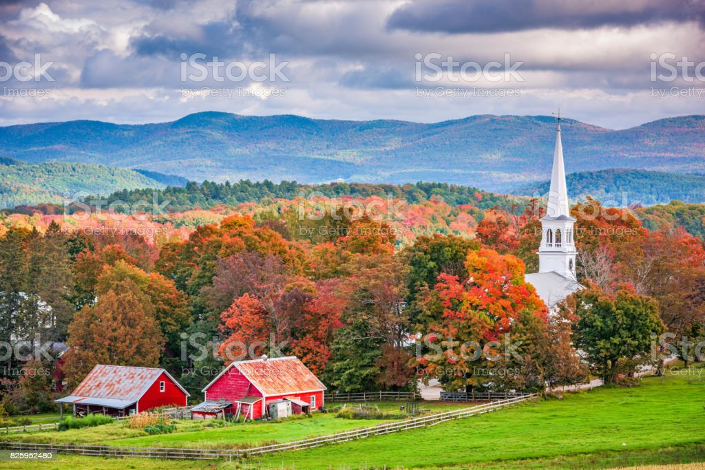 Peacham, Vermont, USA royalty-free stock photo