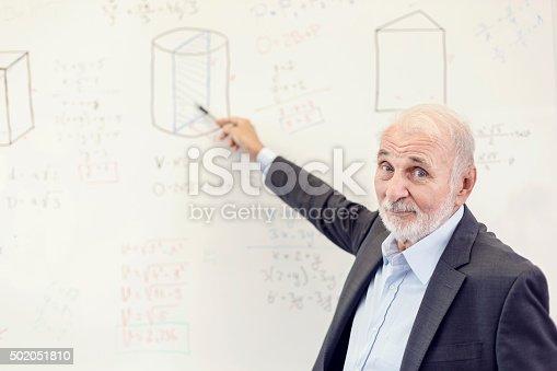 istock Peacher writing on the blackboard 502051810