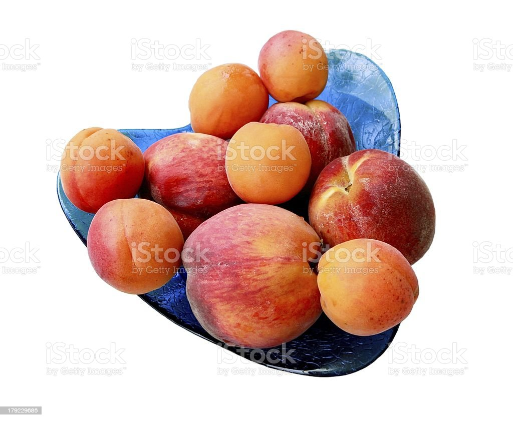 Peaches and apricots royalty-free stock photo