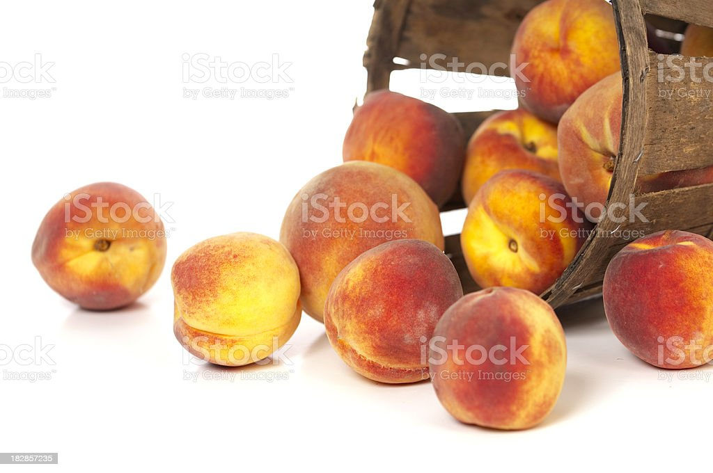 Peaches From A Local Grower royalty-free stock photo