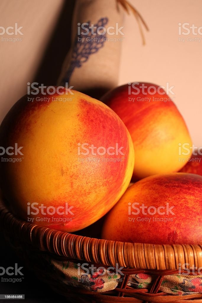 Peaches in a house royalty-free stock photo