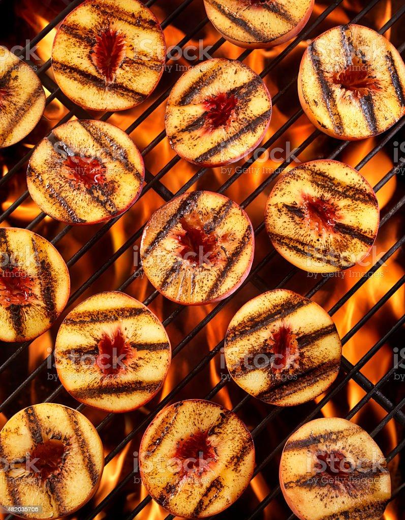 BBQ Peaches stock photo