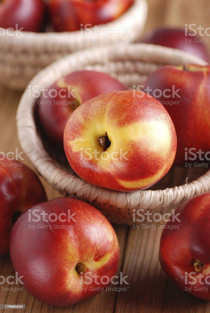 peaches 잘 익은 nectarines royalty-free 스톡 사진