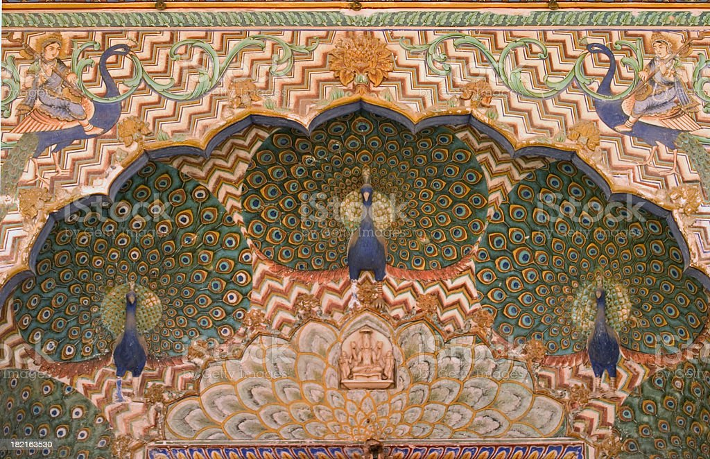 Peacock Arch - Jaipur India royalty-free stock photo