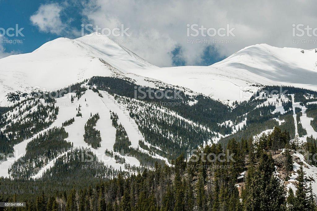 Peak 10 at Breckenridge Ski Resort stock photo