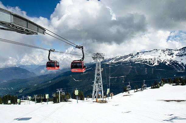 Peak 2 Peak Gondola Whistler stock photo