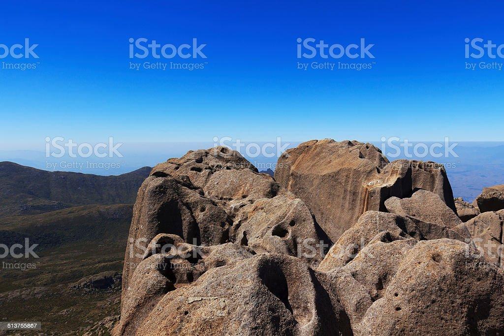 Peak Agulhas Negras (black needles) mountain, Brazil stock photo
