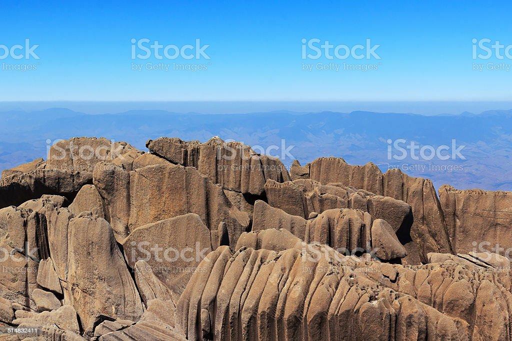 Peak Agulhas Negras (black needles) mountain, park Itatiaia,  Br stock photo