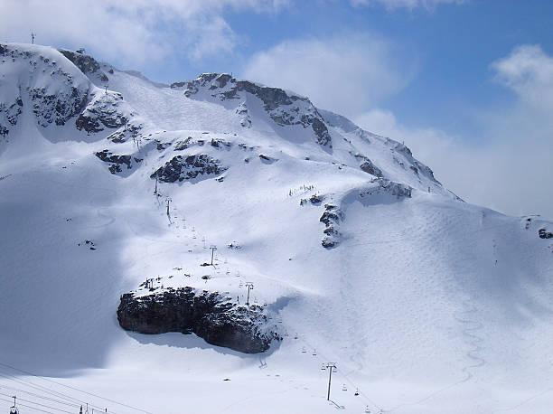 Peak Chair Whistler BC stock photo