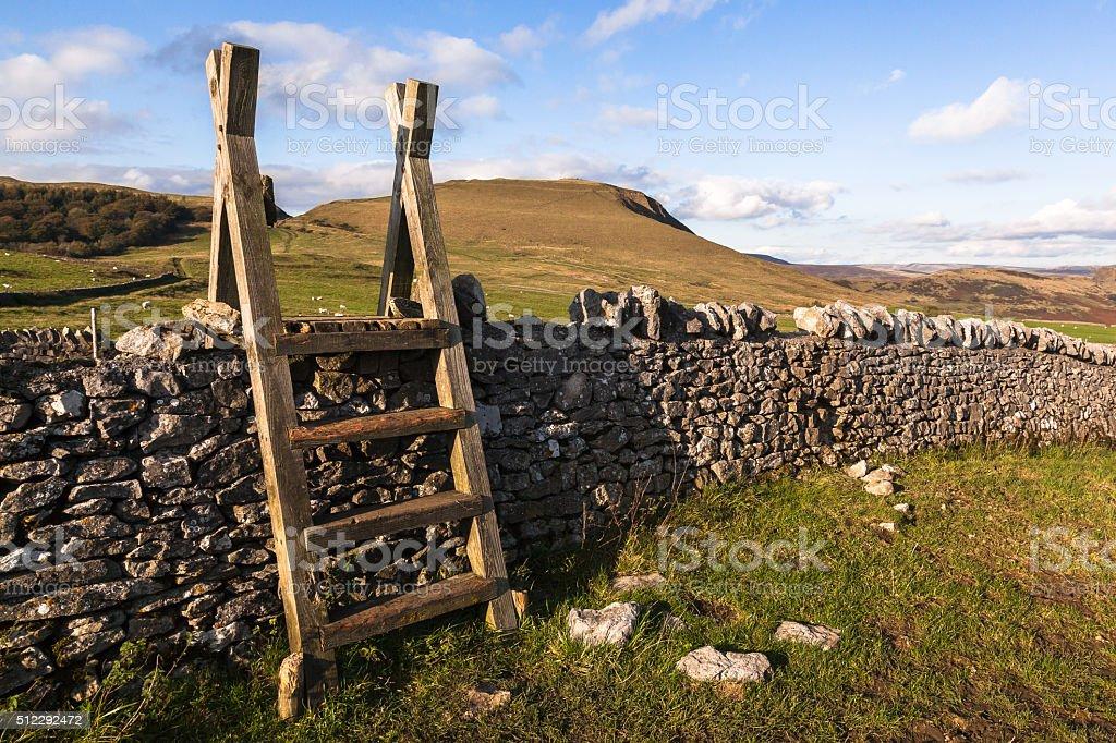 Peak District Stile stock photo