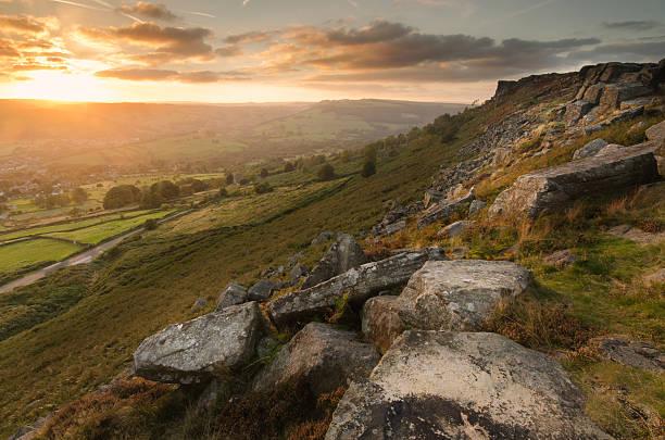 Peak District - Sunset stock photo