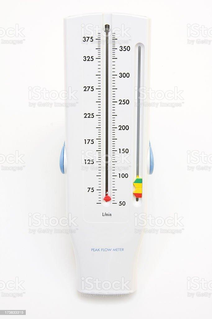 peak flow meter royalty-free stock photo