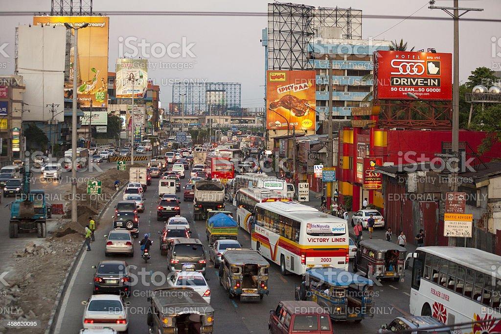 Peak hour in Metro Manila royalty-free stock photo