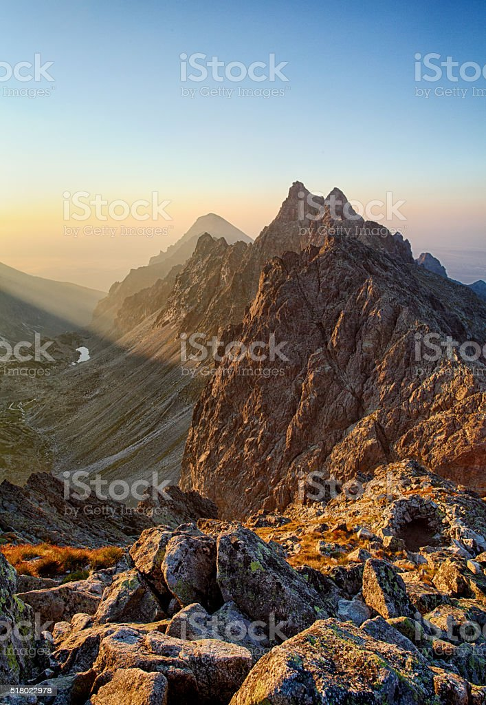 Peak in rocky mountain - Tatra stock photo