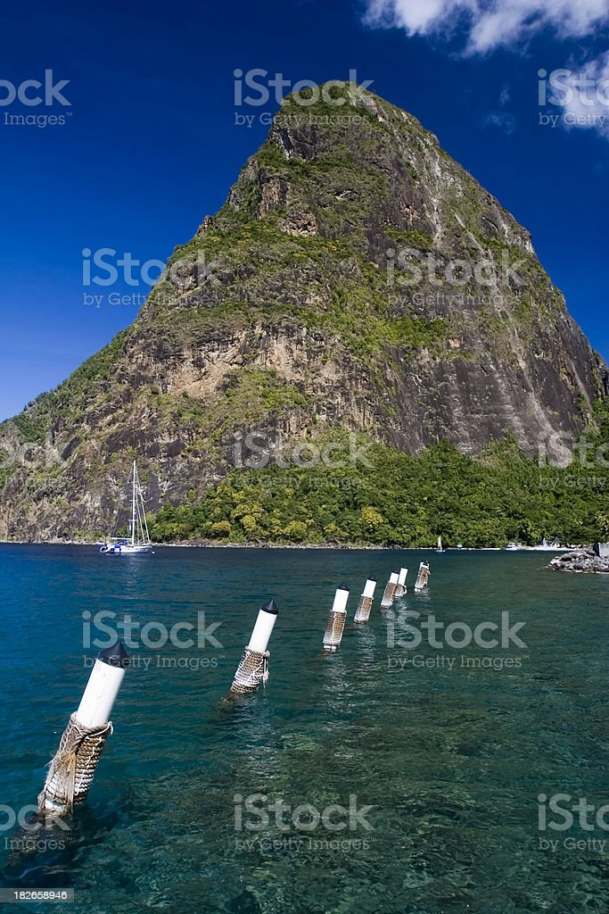 Peak in Saint Lucia stock photo