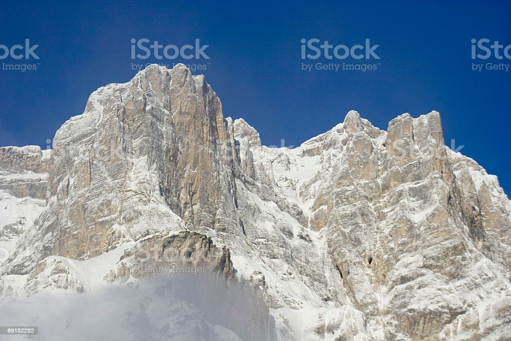 Peak Mountain with a Blue Sky royalty-free stock photo
