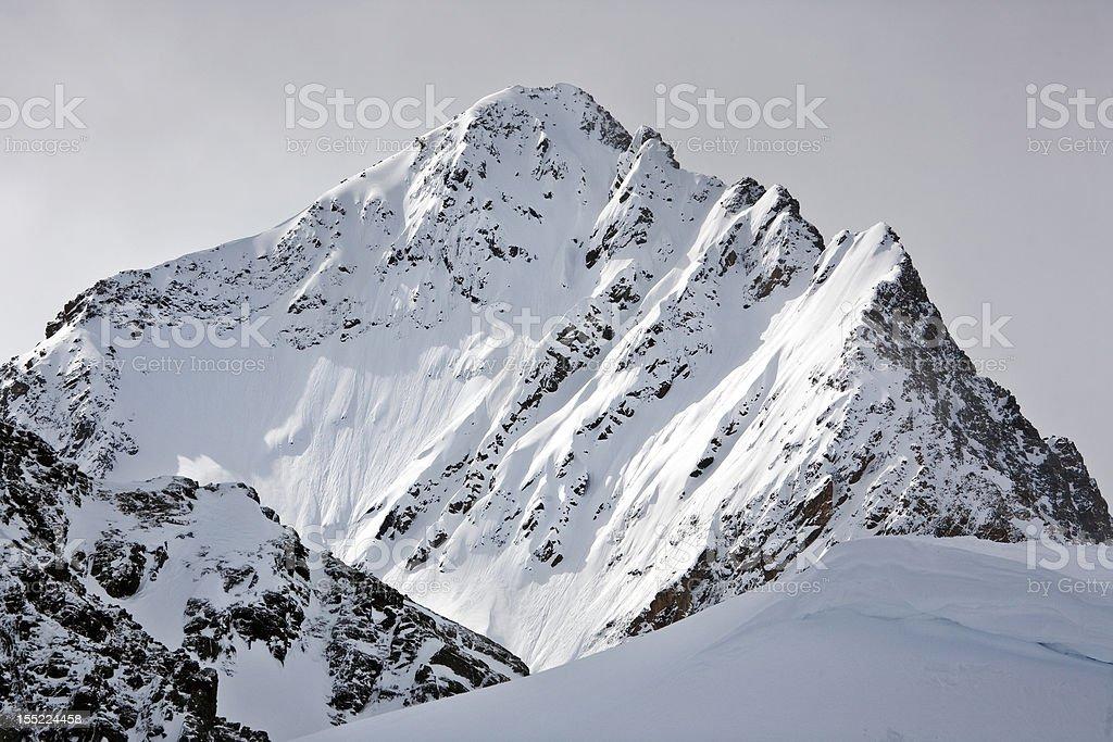 Peak of a mountain royalty-free stock photo