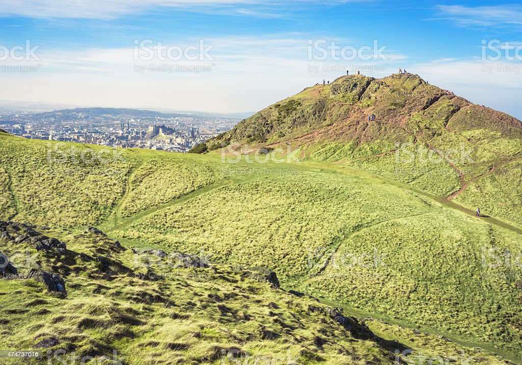 Peak of Arthur's Seat, Edinburgh stock photo