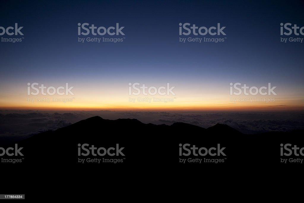 Peak of beautiful sunrise stock photo