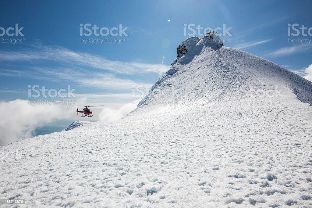 Peak of Snaefellsjokull stock photo