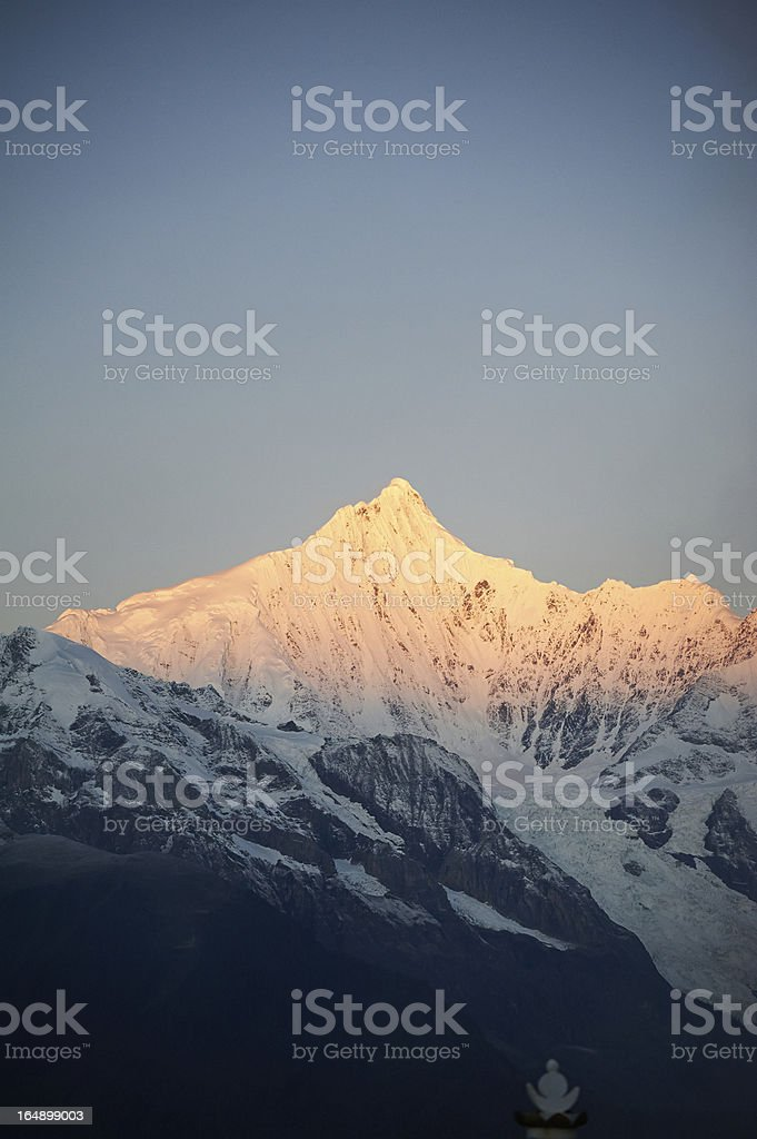 Peak of snow mountain royalty-free stock photo