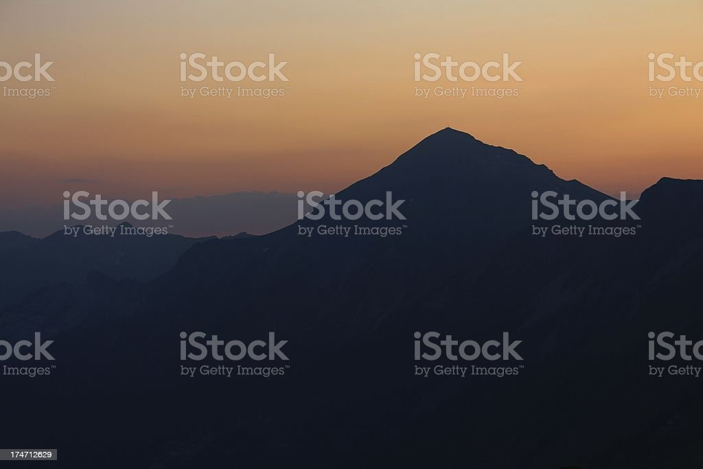 Peak of the Brienzer Rothorn royalty-free stock photo
