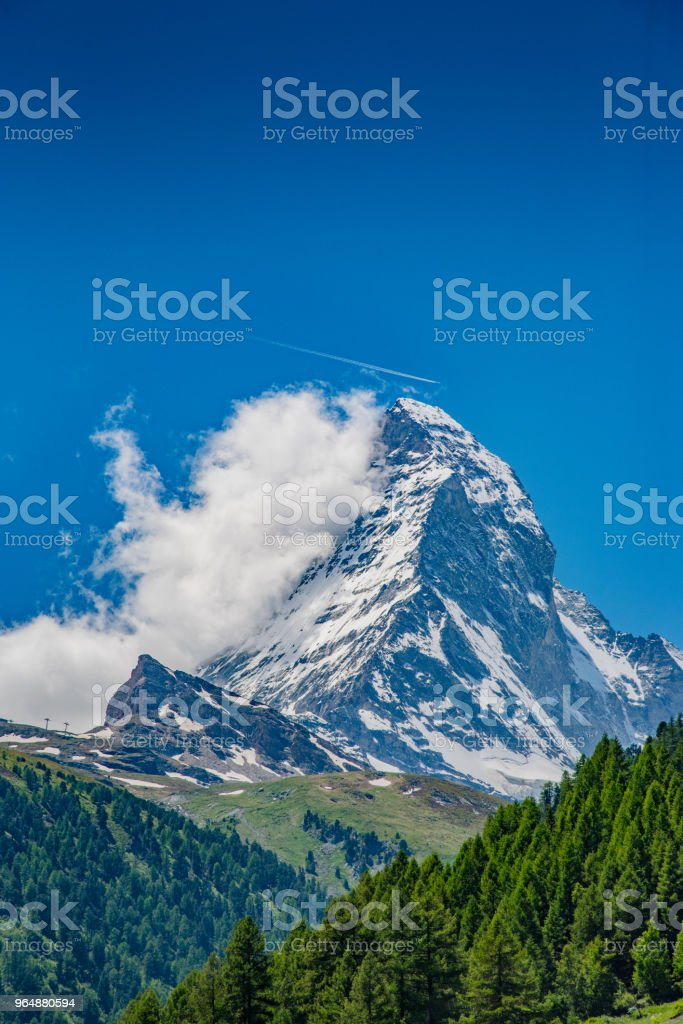 Peak of the Matterhorn royalty-free stock photo