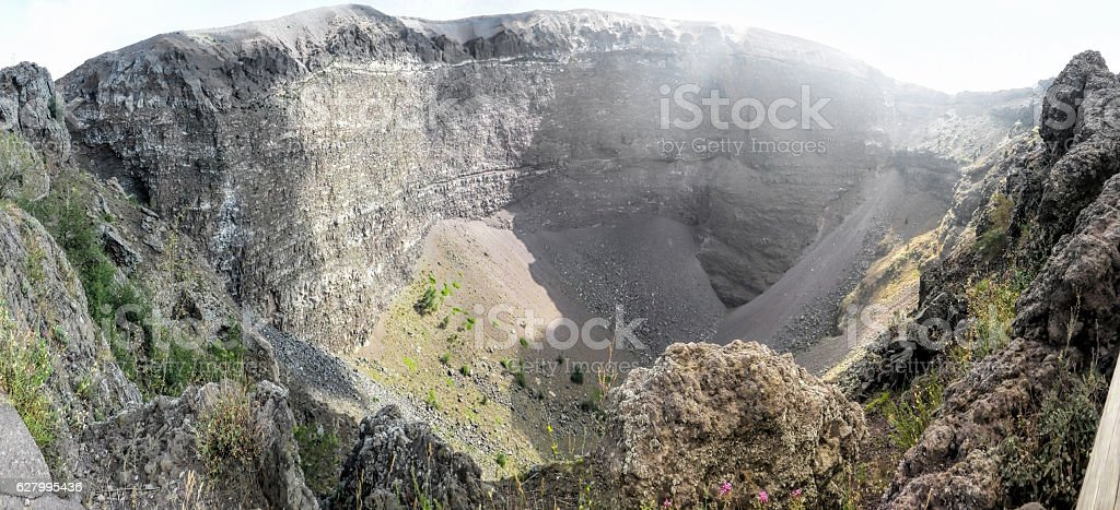 peak of Vesuvius volcano stock photo