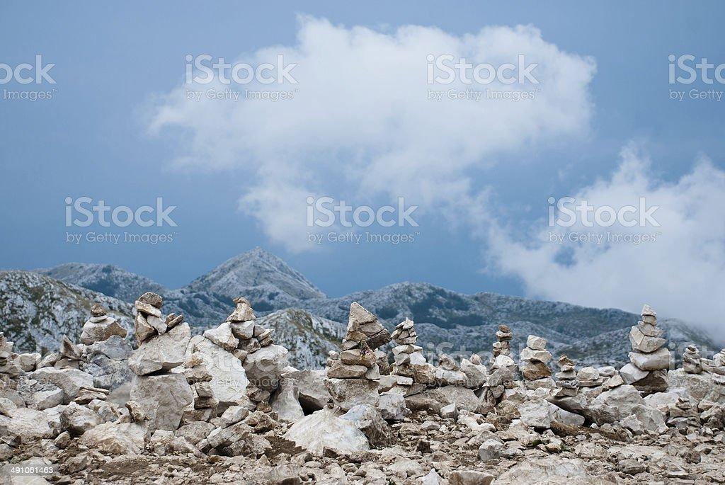 Peak St. George (Sveti Jure), Biokovo, Croatia stock photo