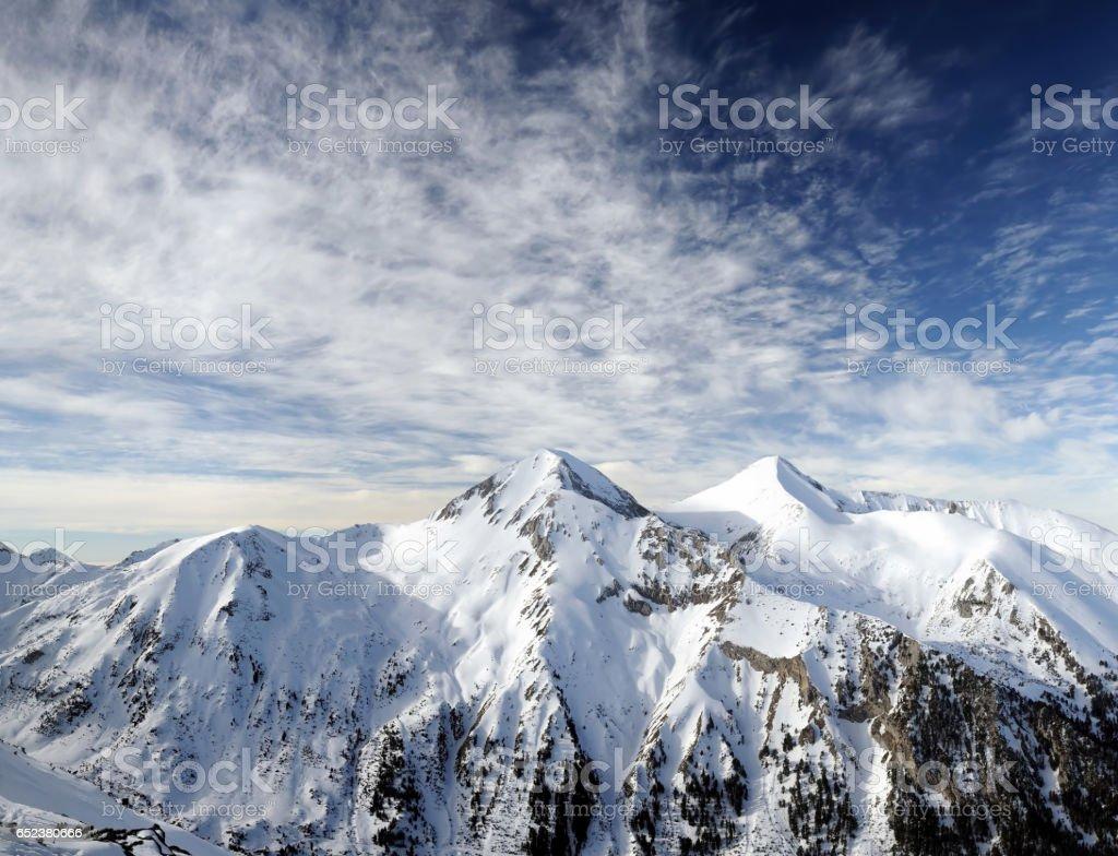 Peak Vihren in National Park Pirin, Bulgaria stock photo
