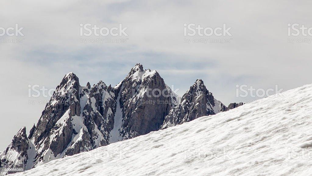 peak with snow stock photo