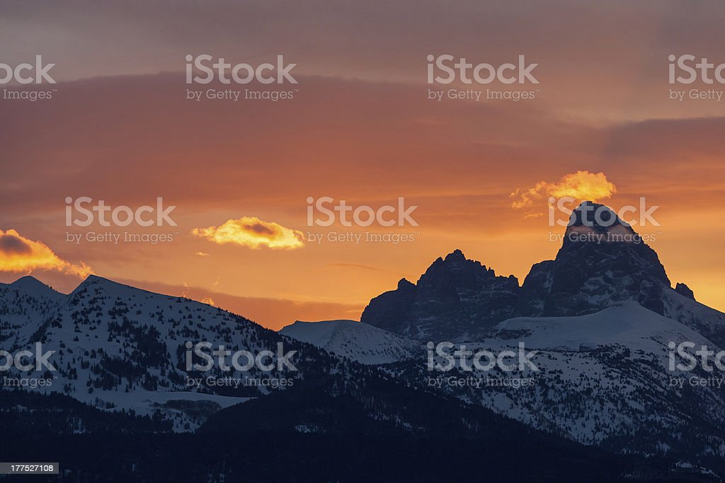 Peaked And The Grand stock photo