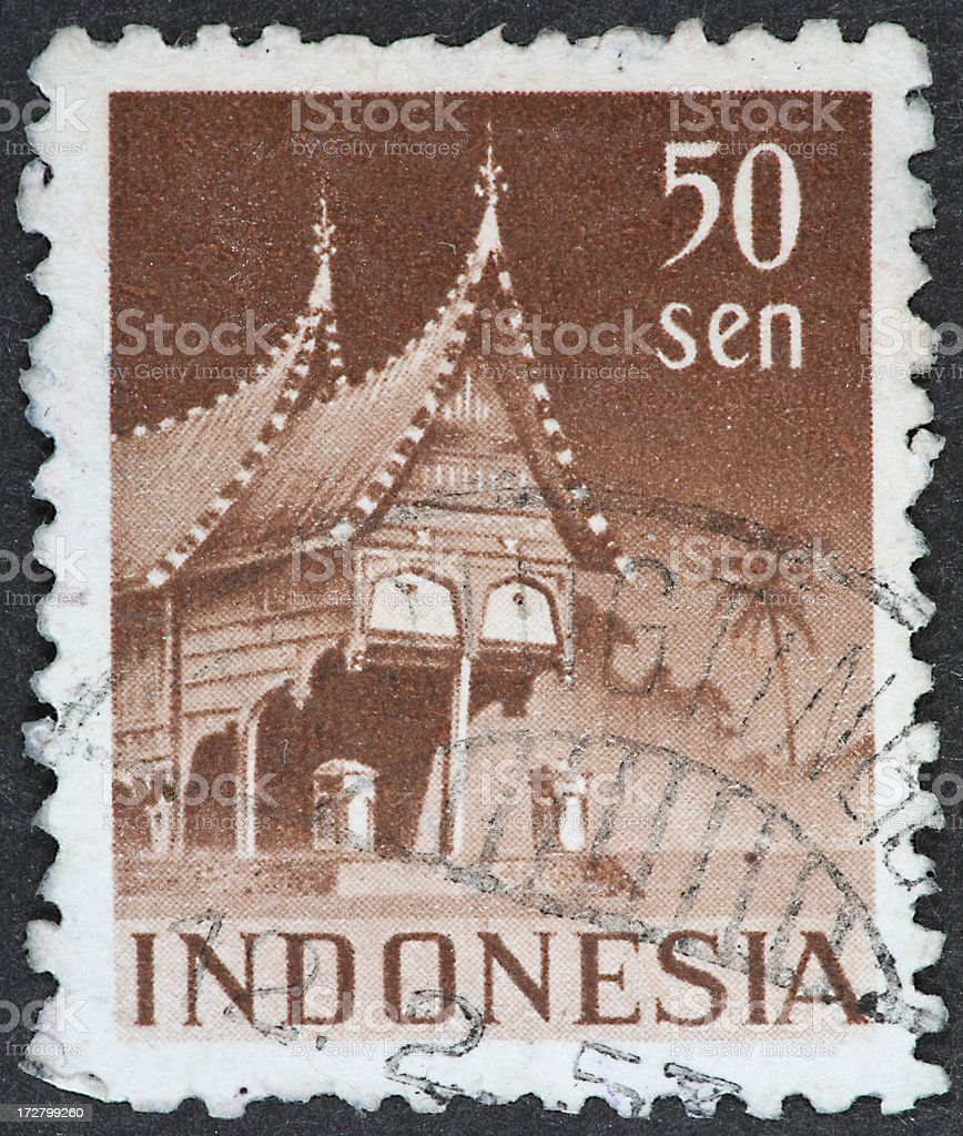 peaked Indonesia architecture royalty-free stock photo